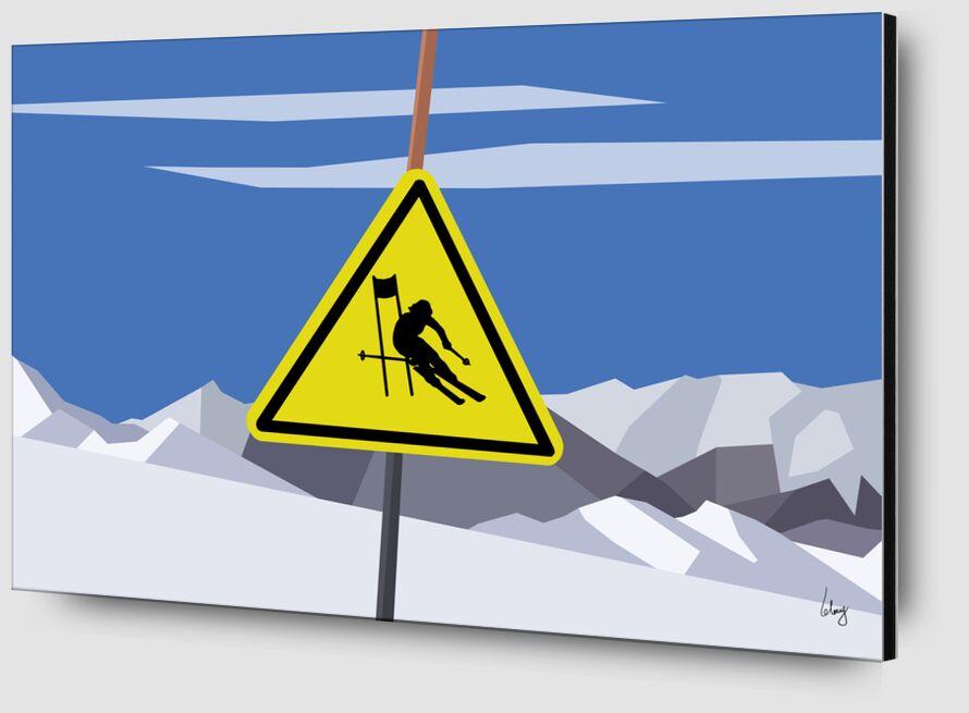 Slalom de Benoit Lelong Zoom Alu Dibond Image