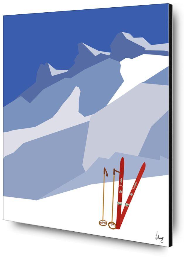 Aiguilles d'Arves de Benoit Lelong, Prodi Art, montagnes, Voyage, ciel bleu, inspirant, calme, décoration, original, nature, France, Alpes, Lac, artiste, vacances, horizon, neige, ski, oisans, sommet, hiver, ancien, cru, rouge, bleu, Arves, Aiguilles d'Arves, savoie, isere, alpinisme, paysage, Hivers