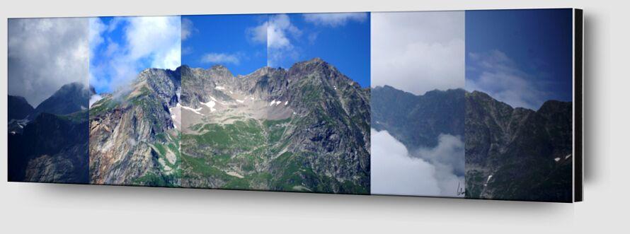 Montagne de Benoit Lelong Zoom Alu Dibond Image
