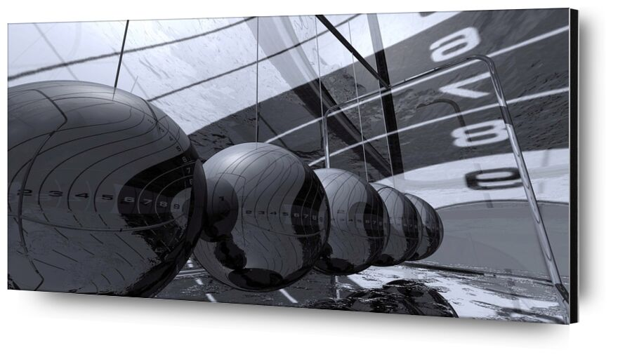 3D Chrome from Pierre Gaultier, Prodi Art, high-tech, metal, graphic, model, 3d, visualization, technology, chrome, balls, play, 3d visualization