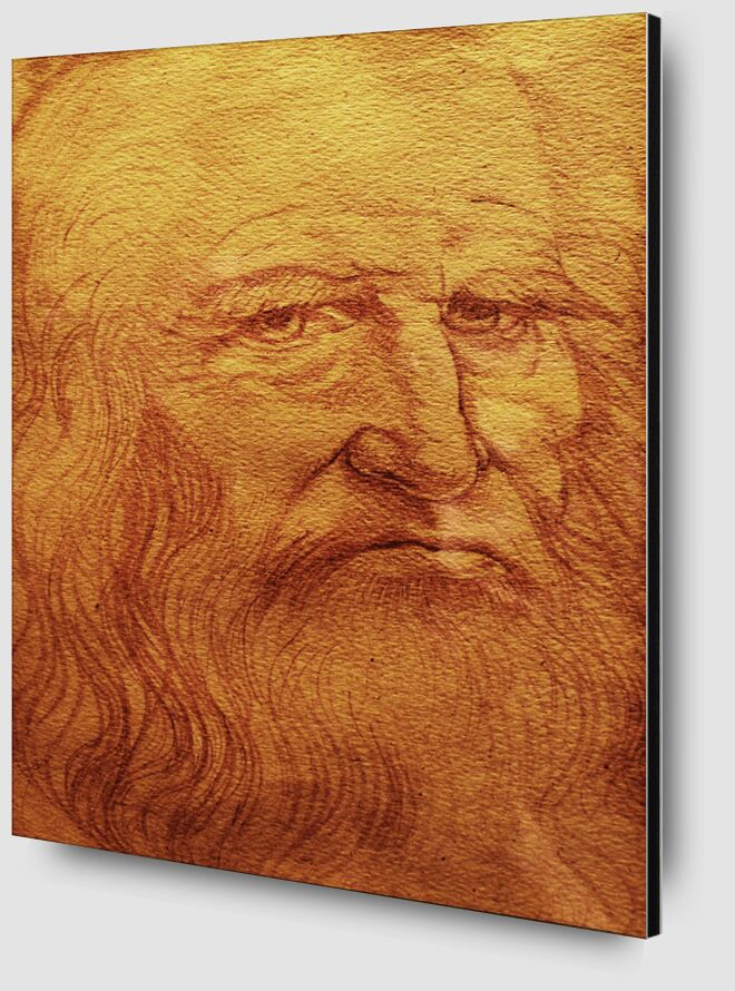 Self-portrait - Leonardo da Vinci desde AUX BEAUX-ARTS Zoom Alu Dibond Image