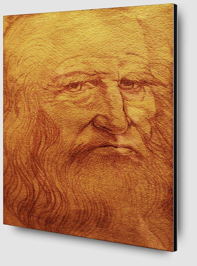 Autoportrait - Léonard de Vinci de AUX BEAUX-ARTS Zoom Alu Dibond Image