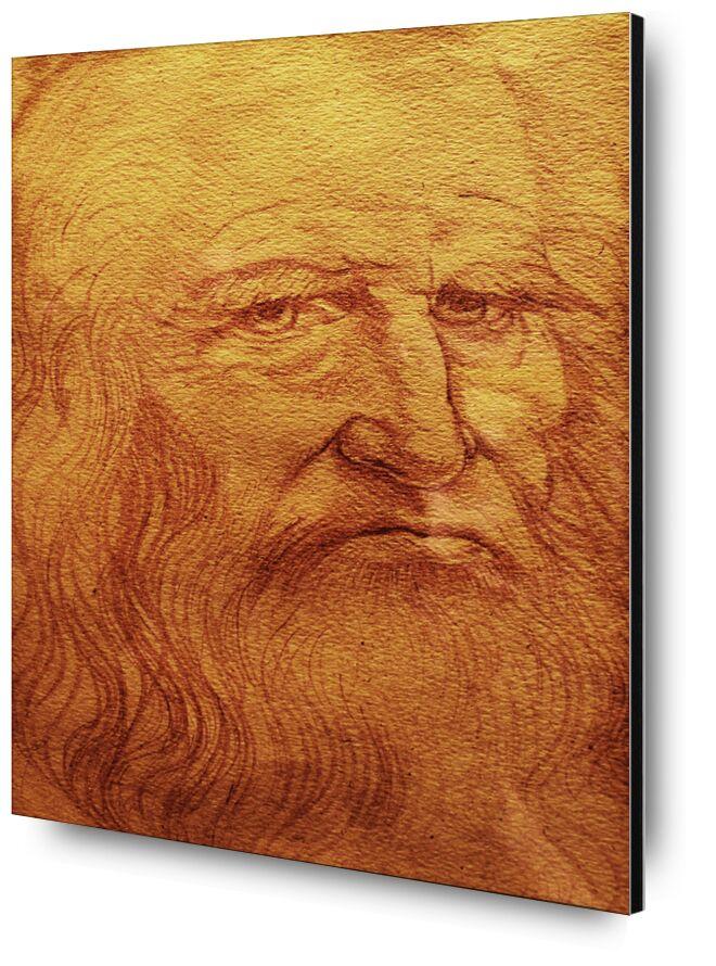 Self-portrait - Leonardo da Vinci desde AUX BEAUX-ARTS, Prodi Art, tiza, dibujo, autorretrato, Leonard de Vinci