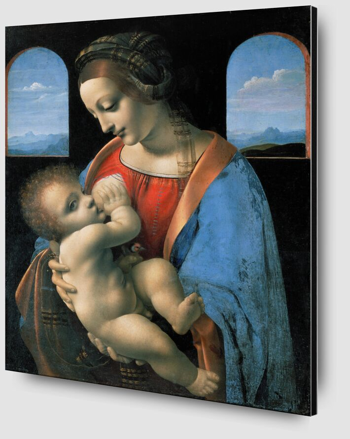 La Madone Litta - Léonard de Vinci de AUX BEAUX-ARTS Zoom Alu Dibond Image