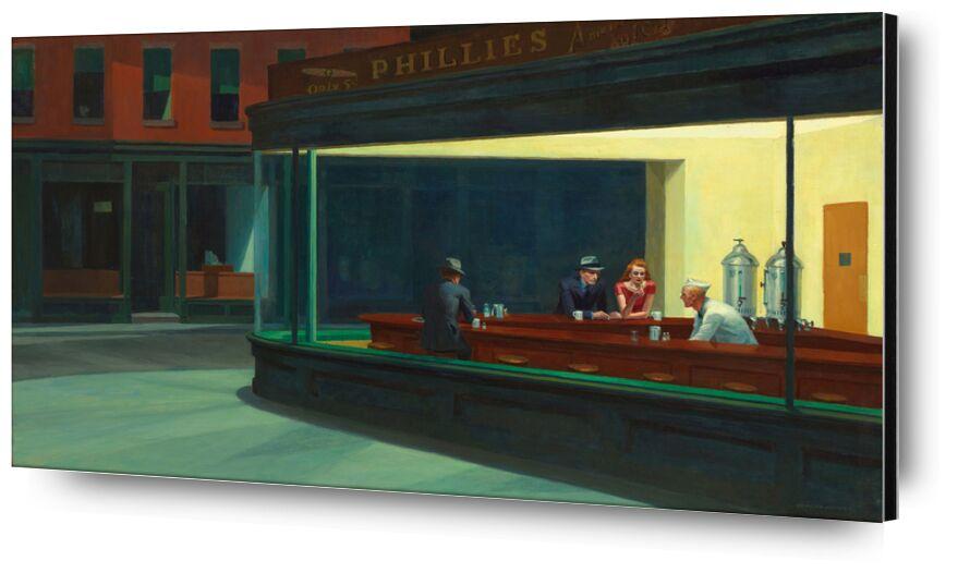 Nighthawks - Edward Hopper de AUX BEAUX-ARTS, Prodi Art, New York, nuit, Edward Hopper, bar, café, rue