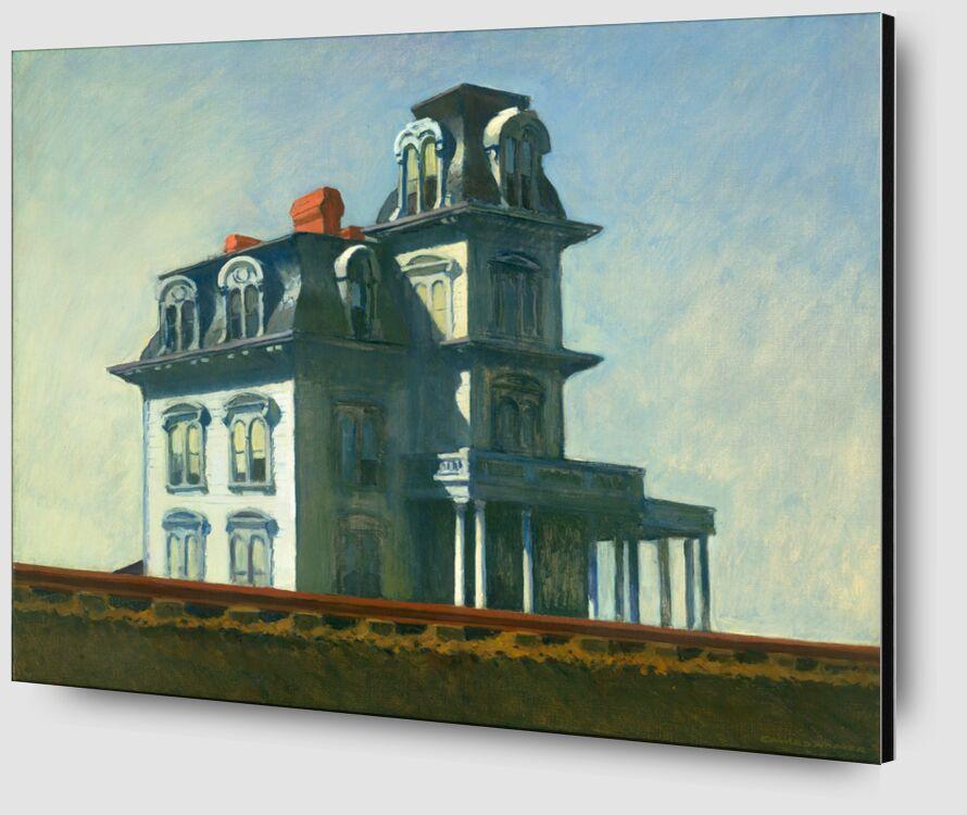 Casa Junto al Ferrocarril - Edward Hopper desde AUX BEAUX-ARTS Zoom Alu Dibond Image