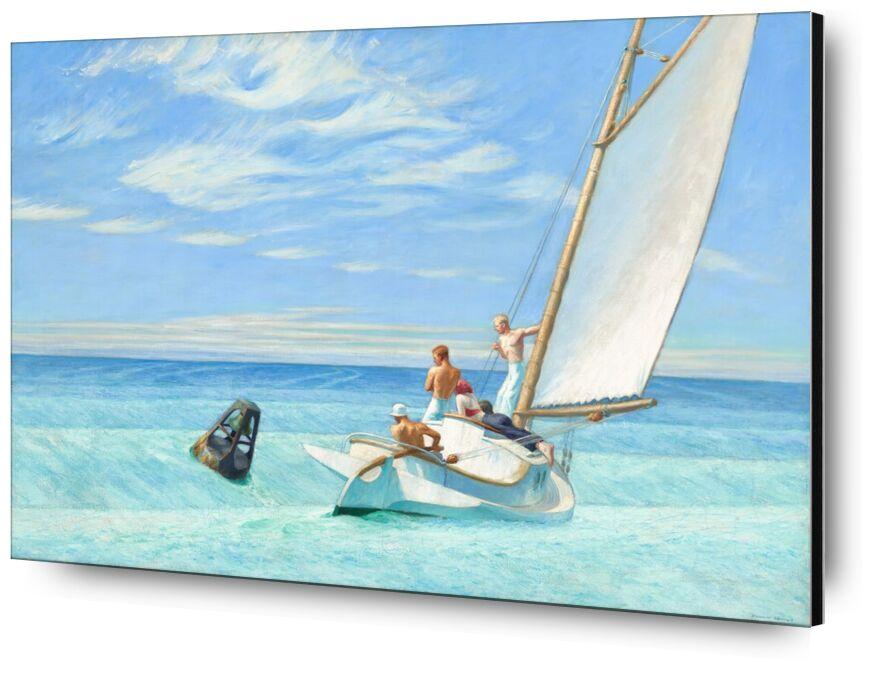 Houle de Terre - Edward Hopper de AUX BEAUX-ARTS, Prodi Art, voile, Edward Hopper, soleil, été, plage, mer, bateau, marins