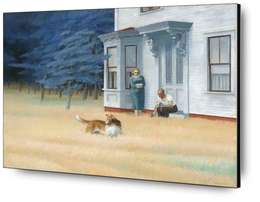 Cape Cod Evening - Edward Hopper desde AUX BEAUX-ARTS, Prodi Art, Edward Hopper, pintura, casa, mujer, hombre, Pareja, madera, árbol, naturaleza