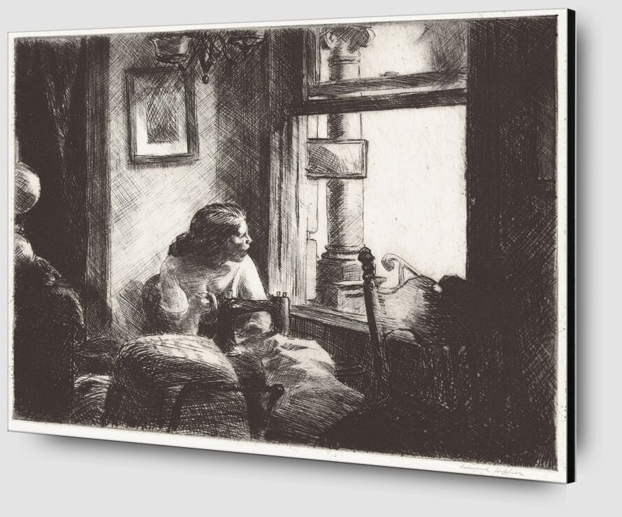 East Side Interior - Edward Hopper from AUX BEAUX-ARTS Zoom Alu Dibond Image