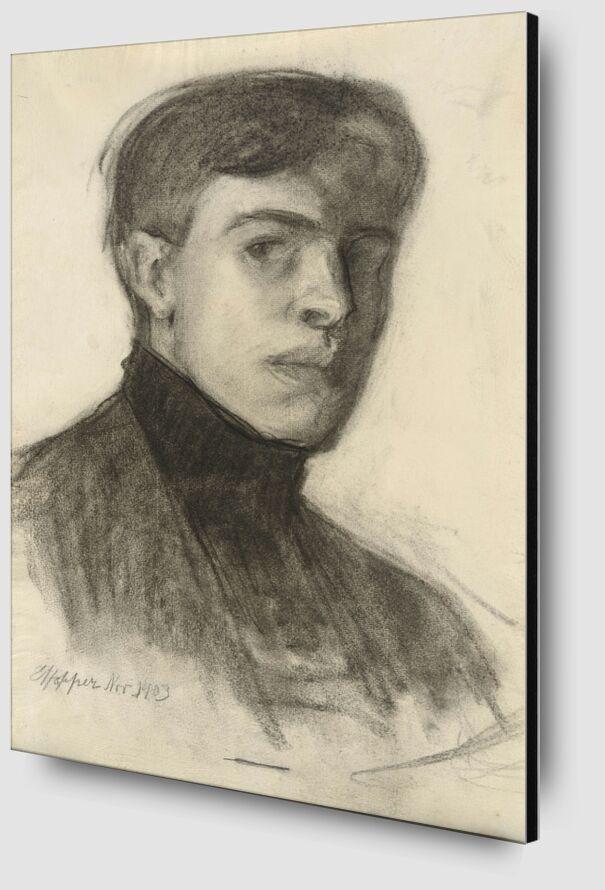 Edward Hopper Self-Portrait from AUX BEAUX-ARTS Zoom Alu Dibond Image
