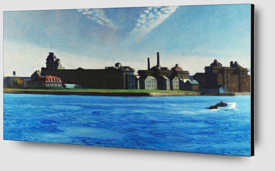 Isla de Blackwell - Edward Hopper desde AUX BEAUX-ARTS Zoom Alu Dibond Image