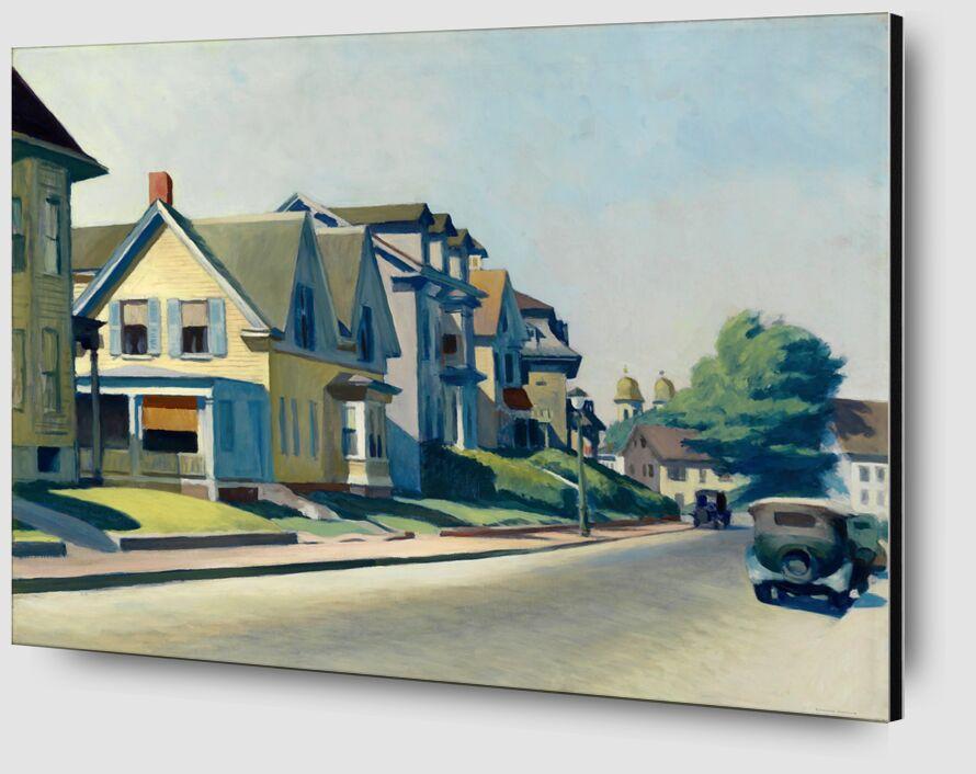 Sun on Prospect Street (Gloucester, Massachusetts) - Edward Hopper from AUX BEAUX-ARTS Zoom Alu Dibond Image