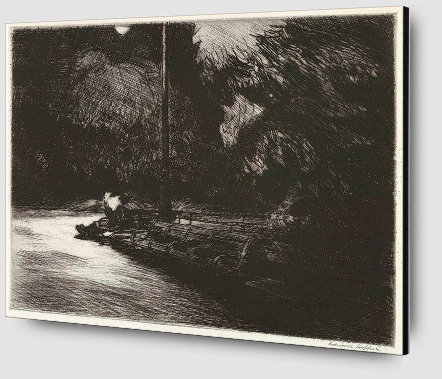 Noche en el Parque - Edward Hopper desde AUX BEAUX-ARTS Zoom Alu Dibond Image