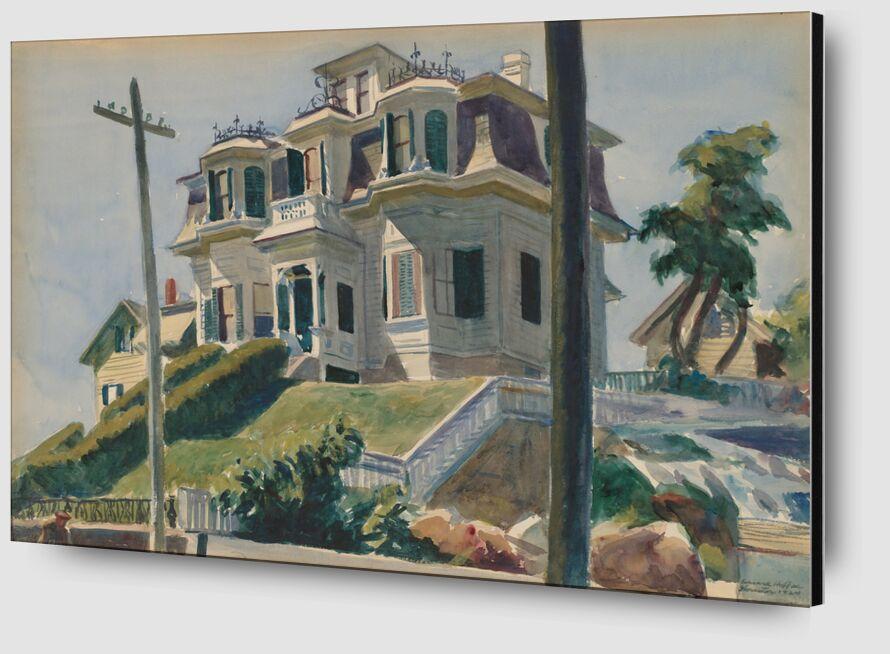 Haskell's House - Edward Hopper de AUX BEAUX-ARTS Zoom Alu Dibond Image