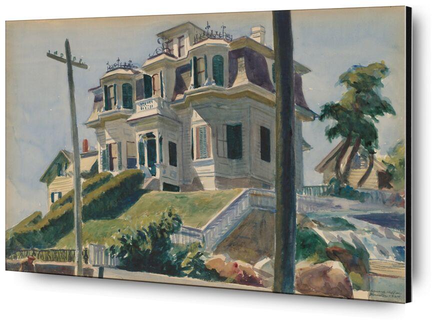 Haskell's House - Edward Hopper de AUX BEAUX-ARTS, Prodi Art, Edward Hopper, maison, maison, amérique, painture