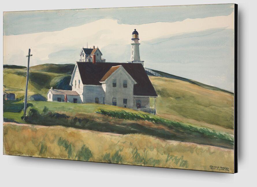 Colina y Casas, Cape Elizabeth, Maine - Edward Hopper desde AUX BEAUX-ARTS Zoom Alu Dibond Image