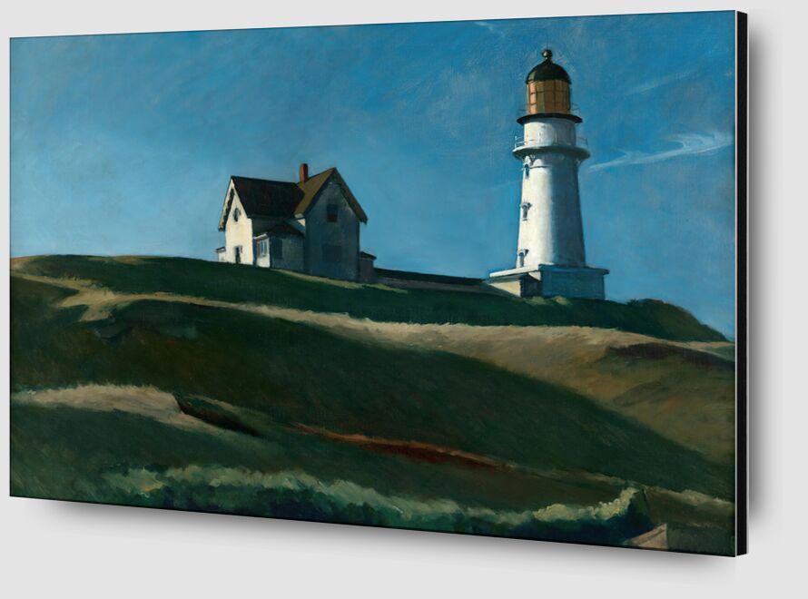 La colline du Phare - Edward Hopper de AUX BEAUX-ARTS Zoom Alu Dibond Image