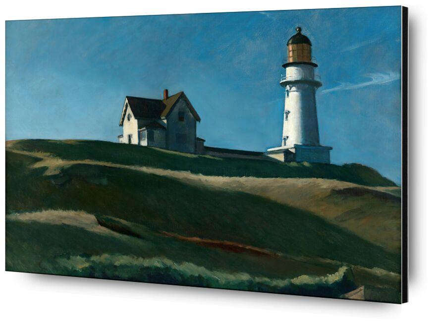 La colline du Phare - Edward Hopper de AUX BEAUX-ARTS, Prodi Art, Edward Hopper, phare, collines, paysage, prairie