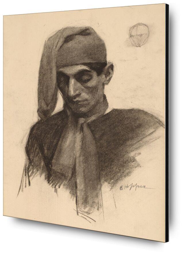 Jimmy Corsini - Edward Hopper desde AUX BEAUX-ARTS, Prodi Art, retrato, Edward Hopper, lápiz, dibujo a lápiz, blanco y negro