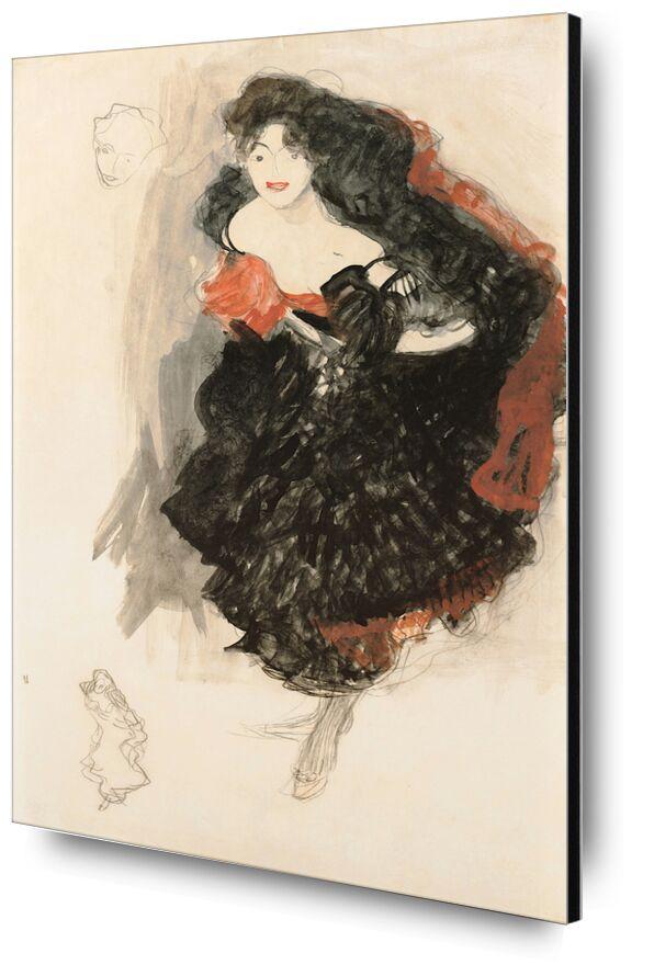 Study for Judith II - Gustav Klimt desde AUX BEAUX-ARTS, Prodi Art, KLIMT, estudiar, pintura, retrato, dibujo a lápiz