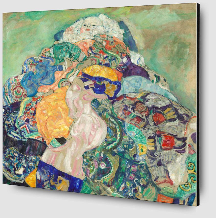 Bébé (berceau) - Gustav Klimt de AUX BEAUX-ARTS Zoom Alu Dibond Image