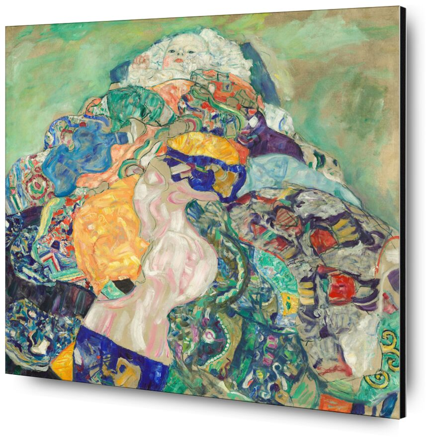 Bebé (Cuna) - Gustav Klimt desde AUX BEAUX-ARTS, Prodi Art, KLIMT, Bebé, infancia, dibujo, pintura, niño, cuna