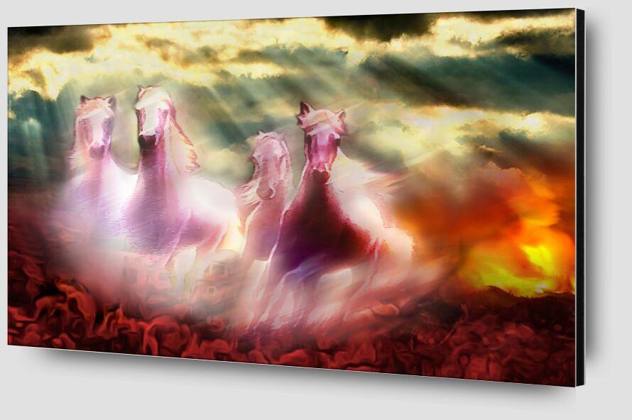 Descent of the horses from Adam da Silva Zoom Alu Dibond Image