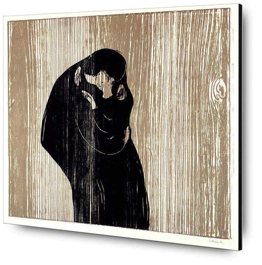 Le Baiser IV - Edvard Munch de AUX BEAUX-ARTS, Prodi Art, femme, homme, baiser, dessin, Edvard Munch