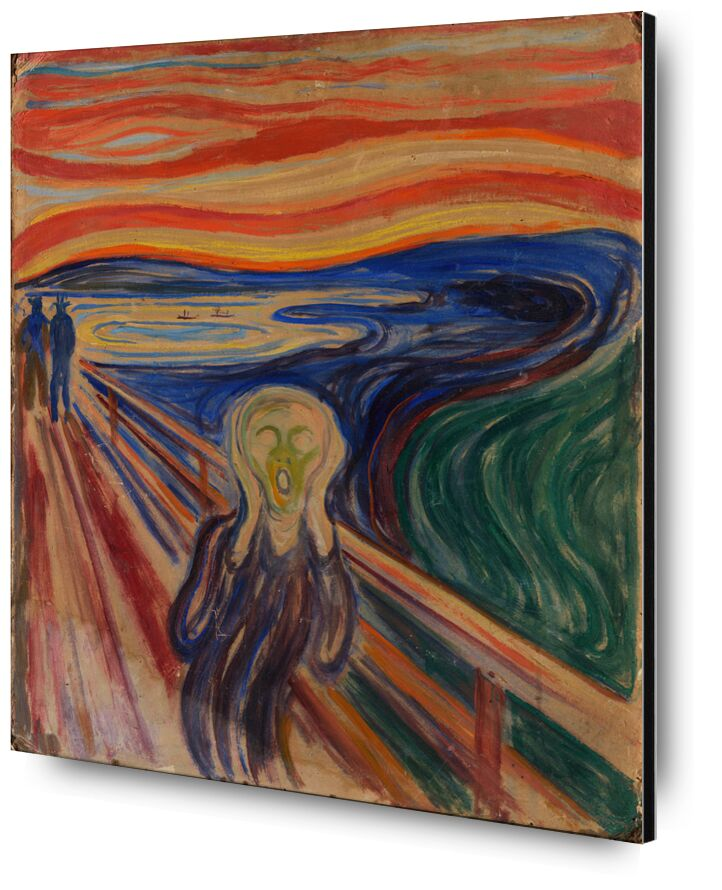 El Grito - Edvard Munch desde AUX BEAUX-ARTS, Prodi Art, pintura, Edvard Munch, gritar, incomodidad, angustia