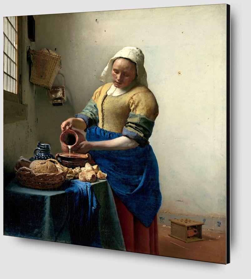La Laitière - Johannes Vermeer de AUX BEAUX-ARTS Zoom Alu Dibond Image