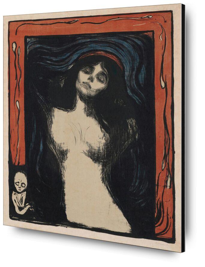 Madonna II - Edvard Munch de AUX BEAUX-ARTS, Prodi Art, Edvard Munch, nu, femme, dessin, grossesse