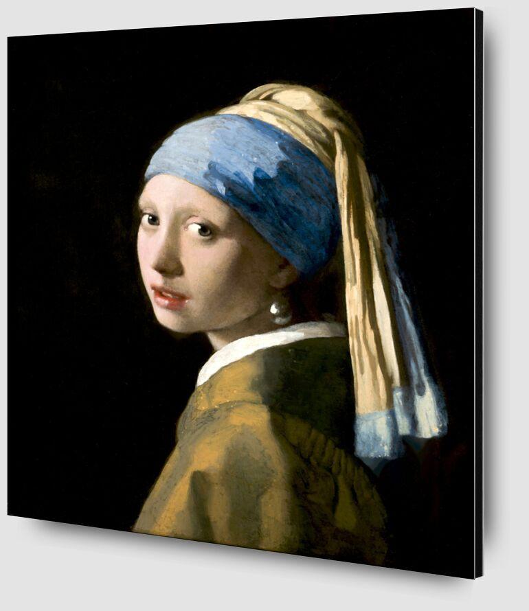 La Jeune Fille à la Perle - Johannes Vermeer de AUX BEAUX-ARTS Zoom Alu Dibond Image