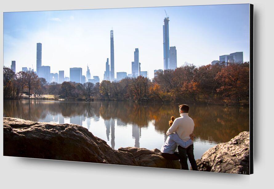 Lovers - NY from Caro Li Zoom Alu Dibond Image