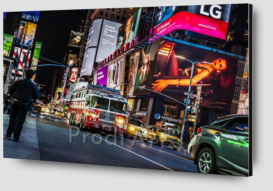 NY Street de Caro Li Zoom Alu Dibond Image