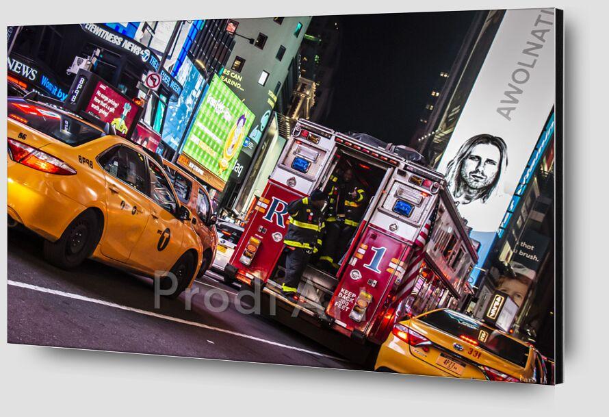 NY Street 2 de Caro Li Zoom Alu Dibond Image