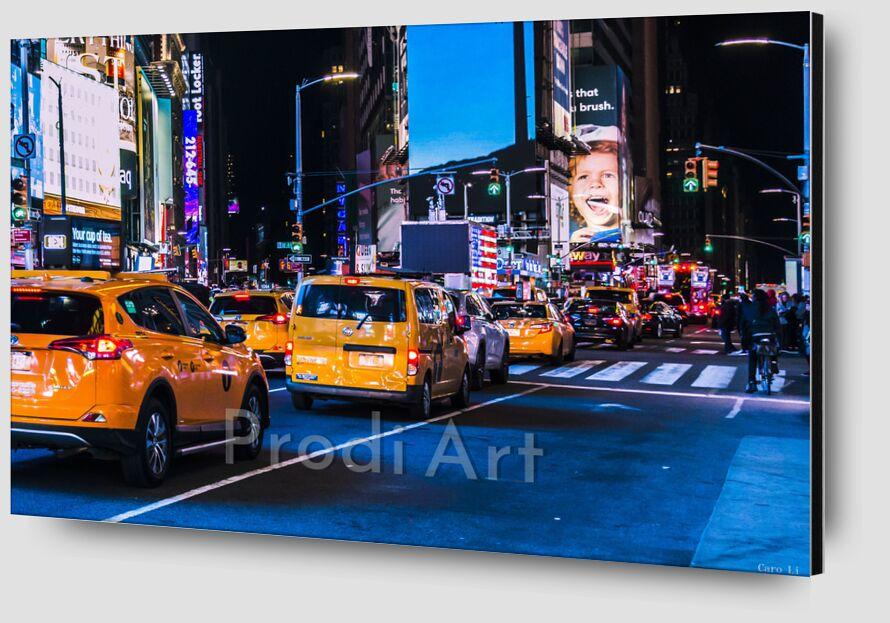 NY Street 3 de Caro Li Zoom Alu Dibond Image