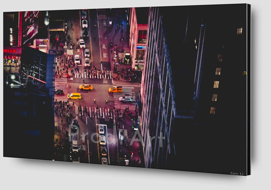 New-York by night de Caro Li Zoom Alu Dibond Image