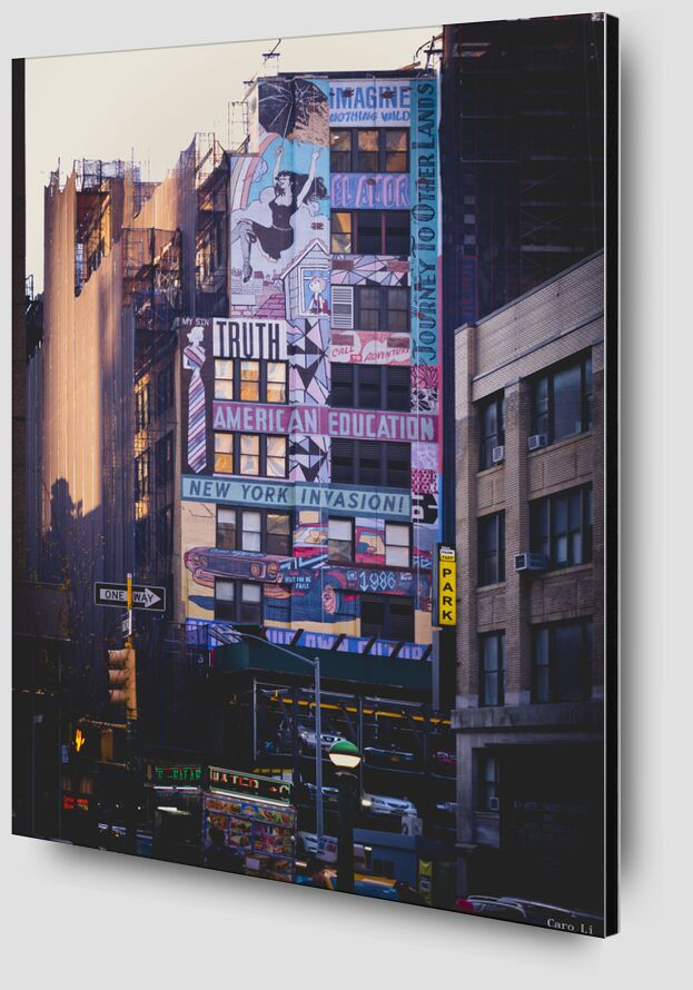 New-York Street de Caro Li Zoom Alu Dibond Image