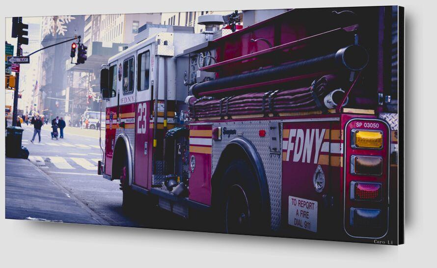 Fire Truck from Caro Li Zoom Alu Dibond Image