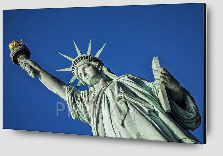 Statut de la liberté de Caro Li Zoom Alu Dibond Image