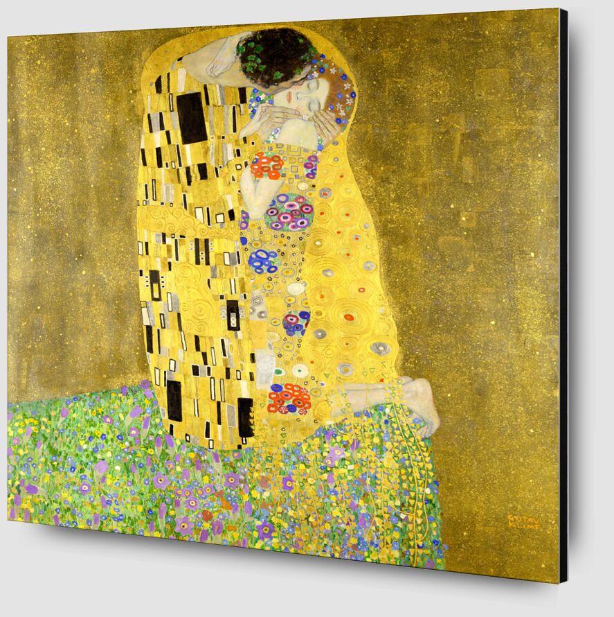 El beso - Gustav Klimt desde AUX BEAUX-ARTS Zoom Alu Dibond Image