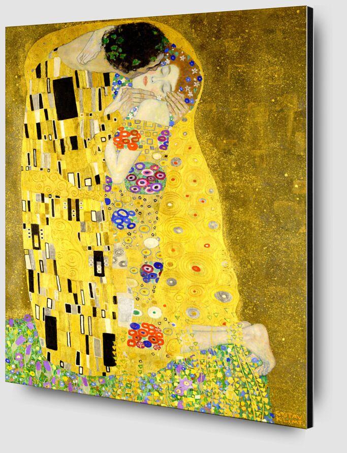 Détails de l'oeuvre Le baiser - Gustav Klimt de AUX BEAUX-ARTS Zoom Alu Dibond Image