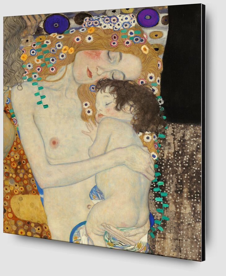 Details of The Three Ages of Woman - Gustav Klimt from AUX BEAUX-ARTS Zoom Alu Dibond Image