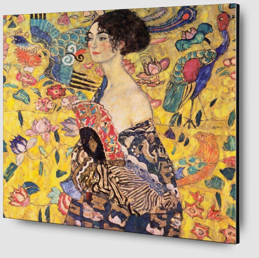 The Lady with a Fan - Gustav Klimt desde AUX BEAUX-ARTS Zoom Alu Dibond Image