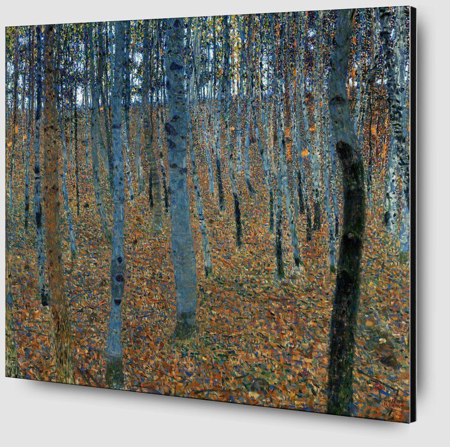 Forêt de bouleaux - Gustav Klimt de AUX BEAUX-ARTS Zoom Alu Dibond Image