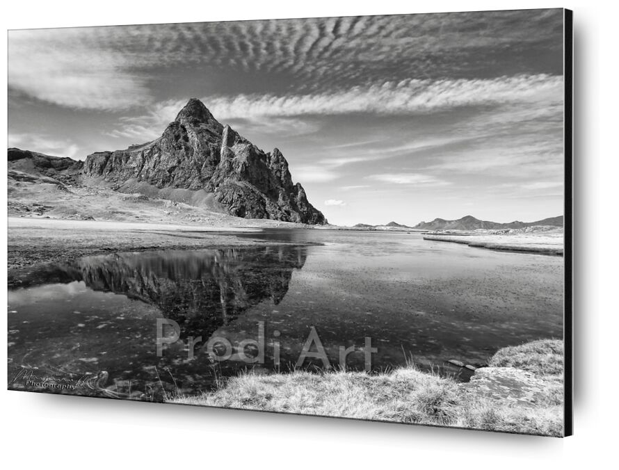 Mineral sheen from Mayanoff Photography, Prodi Art, mineral, peak, mountains, pic, nature, landscape, lake, Pyrenees, mountains, black-and-white