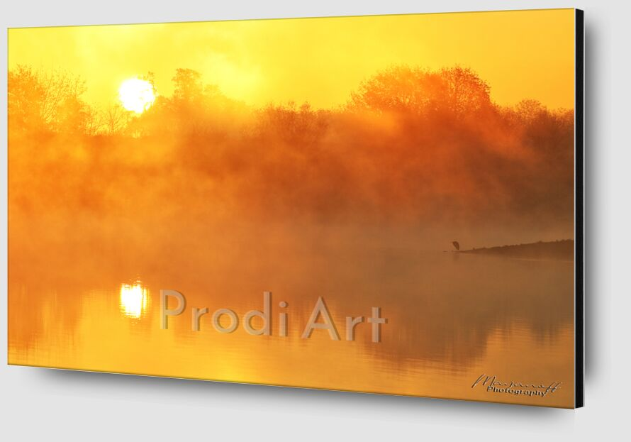 Sun in the lake mist from Mayanoff Photography Zoom Alu Dibond Image