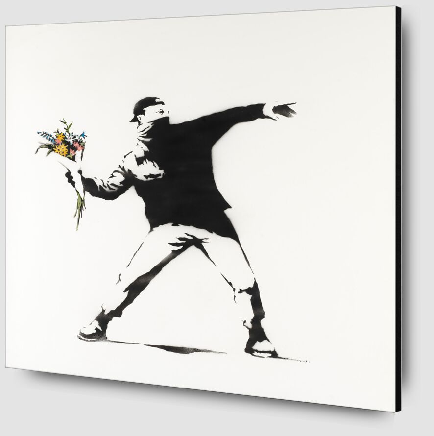 Love Is in the Air - BANKSY from AUX BEAUX-ARTS Zoom Alu Dibond Image