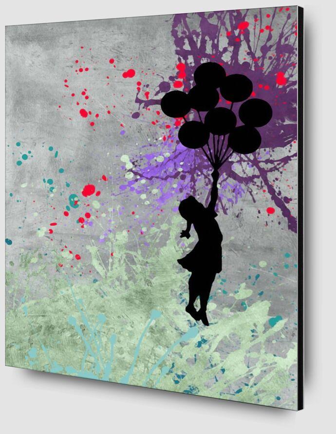 Flying Balloon Girl - BANKSY from AUX BEAUX-ARTS Zoom Alu Dibond Image