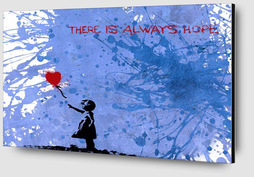 La Fille aux 128 Ballons - BANKSY de AUX BEAUX-ARTS Zoom Alu Dibond Image